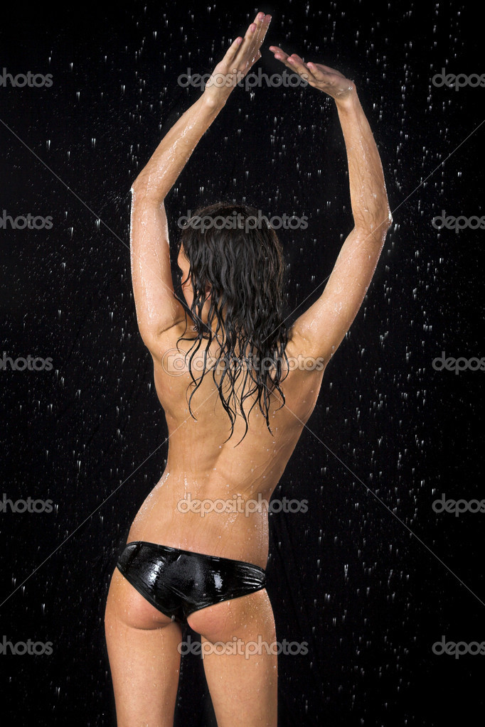 Young sexy woman. Water studio photo.  Stock Photo #1462111