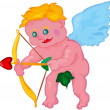 Vector cupid aiming — Stock Vector