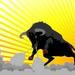 Very aggressive bull — Stock Vector #1733812