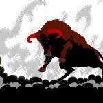 Hell bull — Stock Vector #1734086