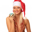 Sexy woman in Santa's cap — Stock Photo #1665955