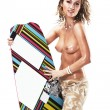 Sexual topless woman - kite boarder — Photo