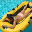 Pretty blond in pool — Stock Photo #2326210