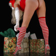Santas little helper - Stock Photo