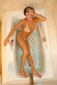 Woman bathing — Stock Photo