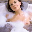 Stock Photo: Beautiful woman in jacuzzi