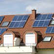 Solar colllectors on the ceiling of a modern house — Stock Photo #2655730