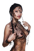 Sensual model with bodypainting